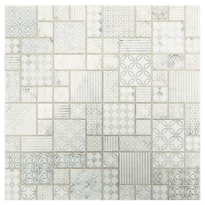 Premier Accents Parchment Block 11 in. x 11 in. x 8 mm Stone Mosaic Tile