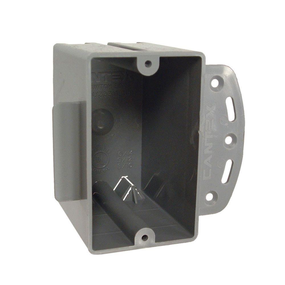 RACO Single Gang Square Non-Metallic Cable Box, 2-27/32 in. Deep ...