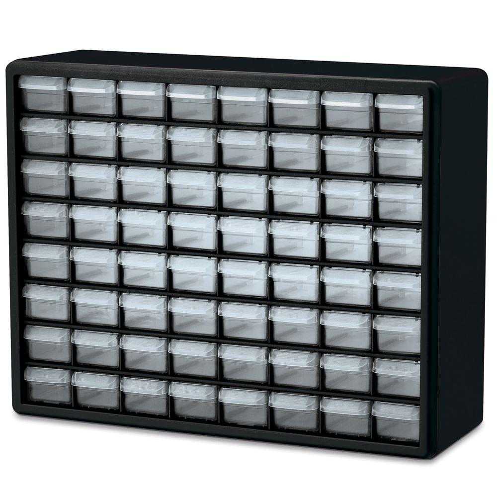 64-Compartment Small Parts Organizer Cabinet