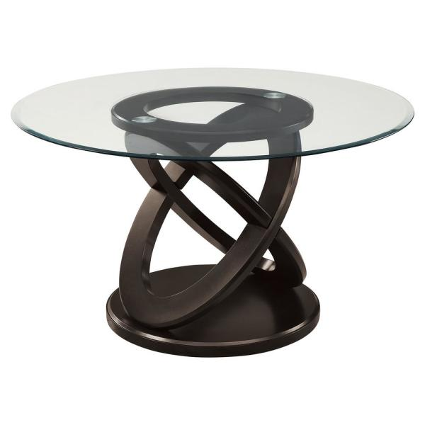 Jasmine Espresso,Clear Wood Dining Table for (Seats of 4)