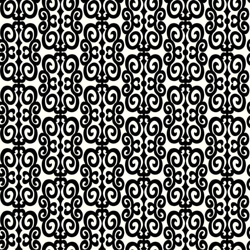 Flocked Scroll Wallpaper