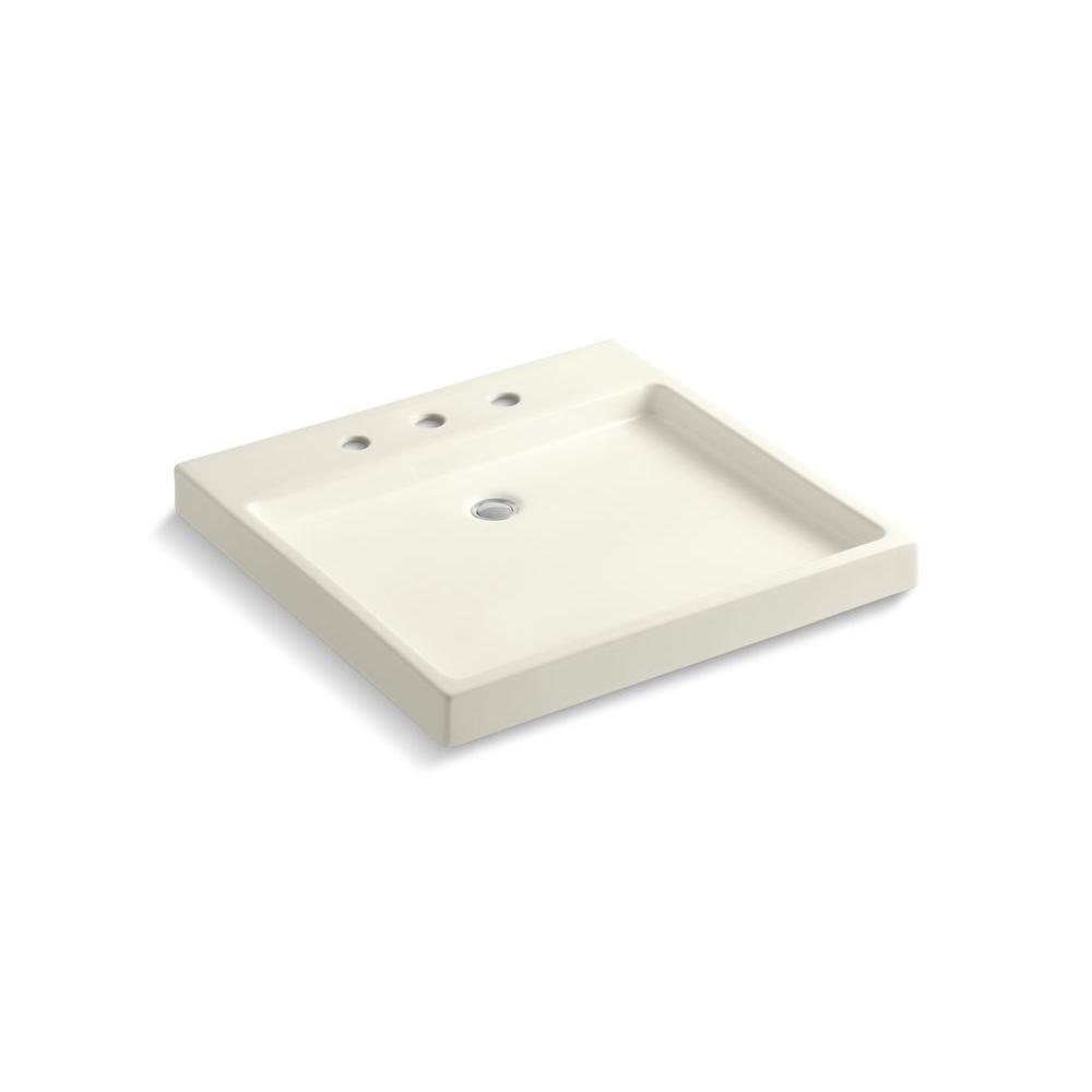 Purist Wading Pool Fireclay Vessel Sink in Biscuit