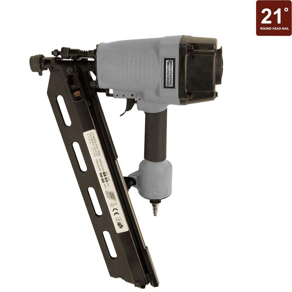 Professional Woodworker 21 Degree Full Round-Head Framing Nailer ...