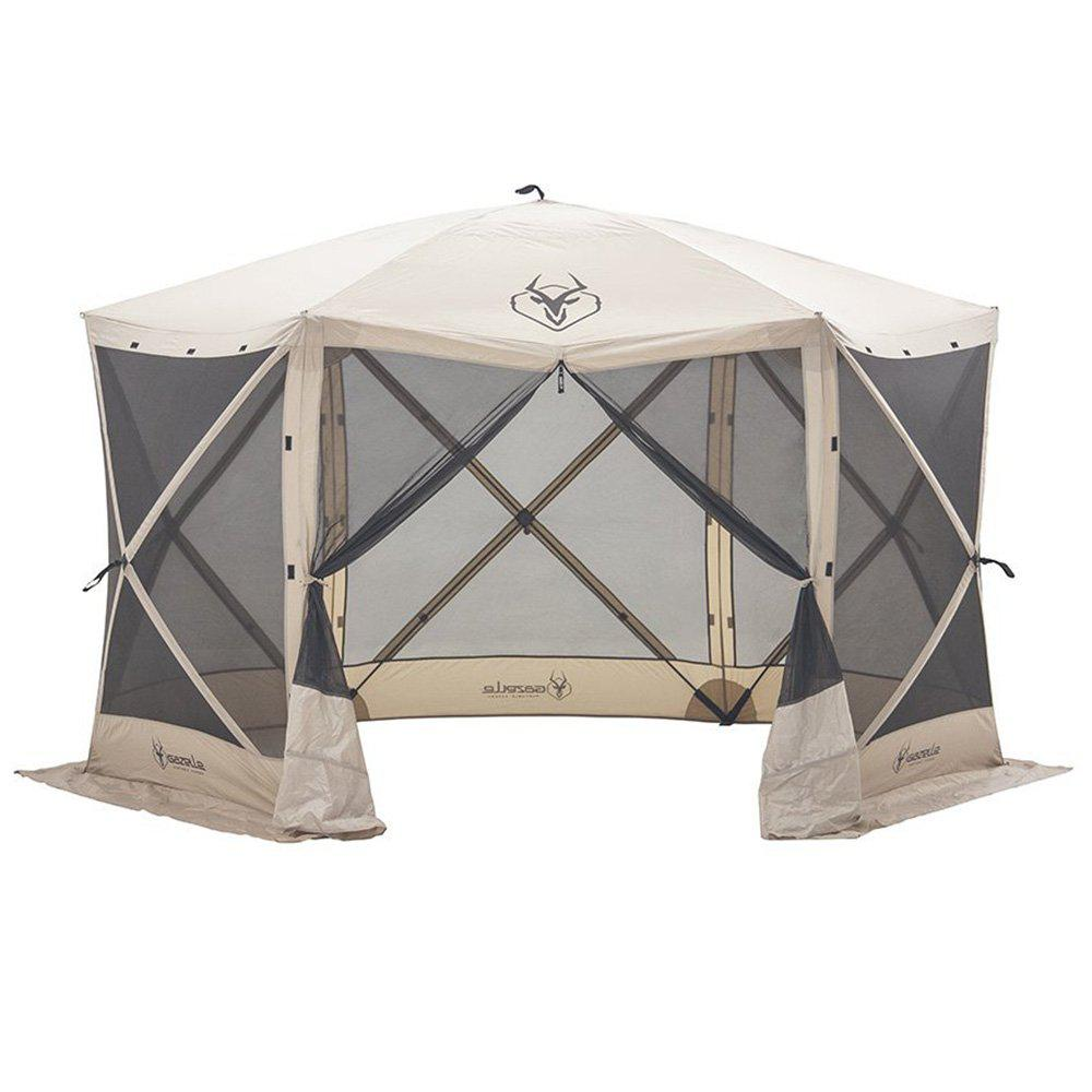 7 ft. Tall Heavy-Duty 6-Sided Portable Gazebo with 8-Person Capacity