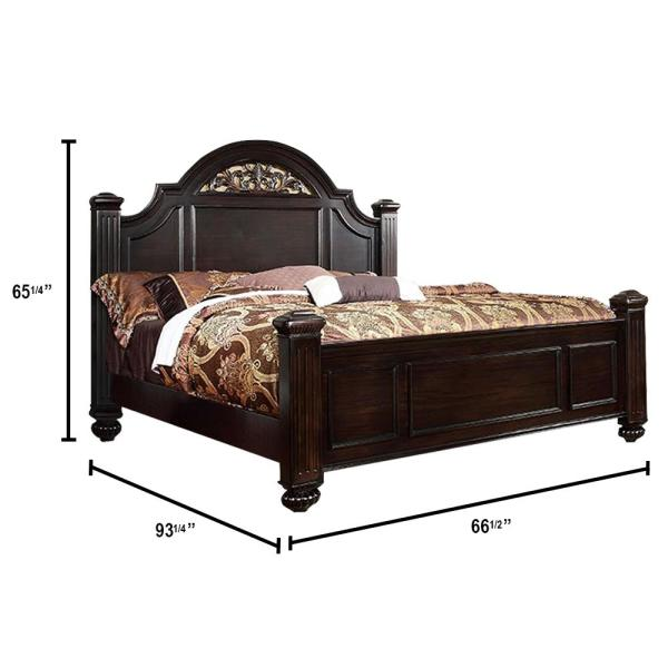 Syracuse in Dark Walnut Queen Bed