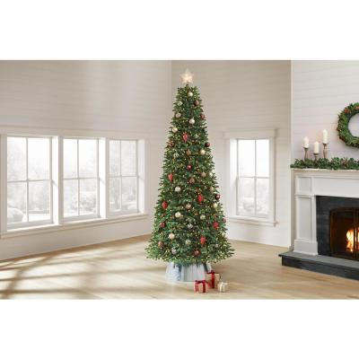 9 ft Chelsey Balsam Fir LED Pre-Lit Artificial Christmas Tree with 1100 SureBright Warm White Lights
