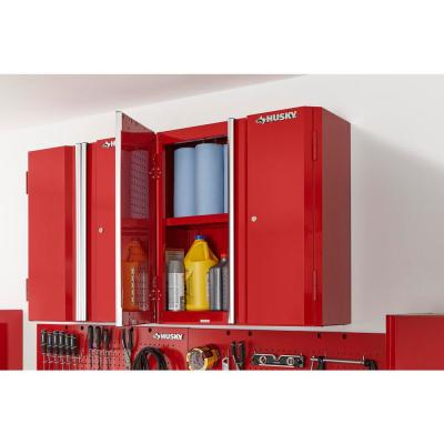 28 in. W x 29 in. H x 12 in. D Steel Garage Wall Cabinet in Red