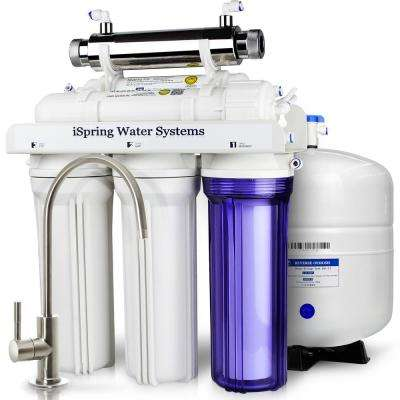 6-Stage with UV Sterilizer Filter 75GPD Under Sink Reverse Osmosis Drinking Water Filtration System