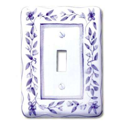 Blue Bouquet 1 Toggle Wall Plate