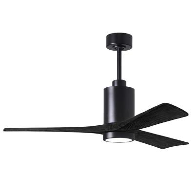 Patricia-3 52 in. Integrated LED Matte Black Ceiling Fan with Light Kit