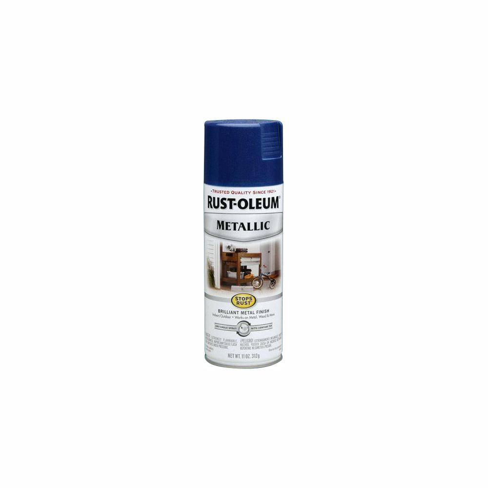 6cffd395 Rust-Oleum Stops Rust 11 oz. Metallic Cobalt Blue Protective Spray Paint  (6-Pack)-7251830 - The Home Depot