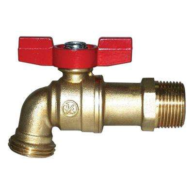 3/4 in. Brass MPT x Sweat Ball Hose Bibb No Lead