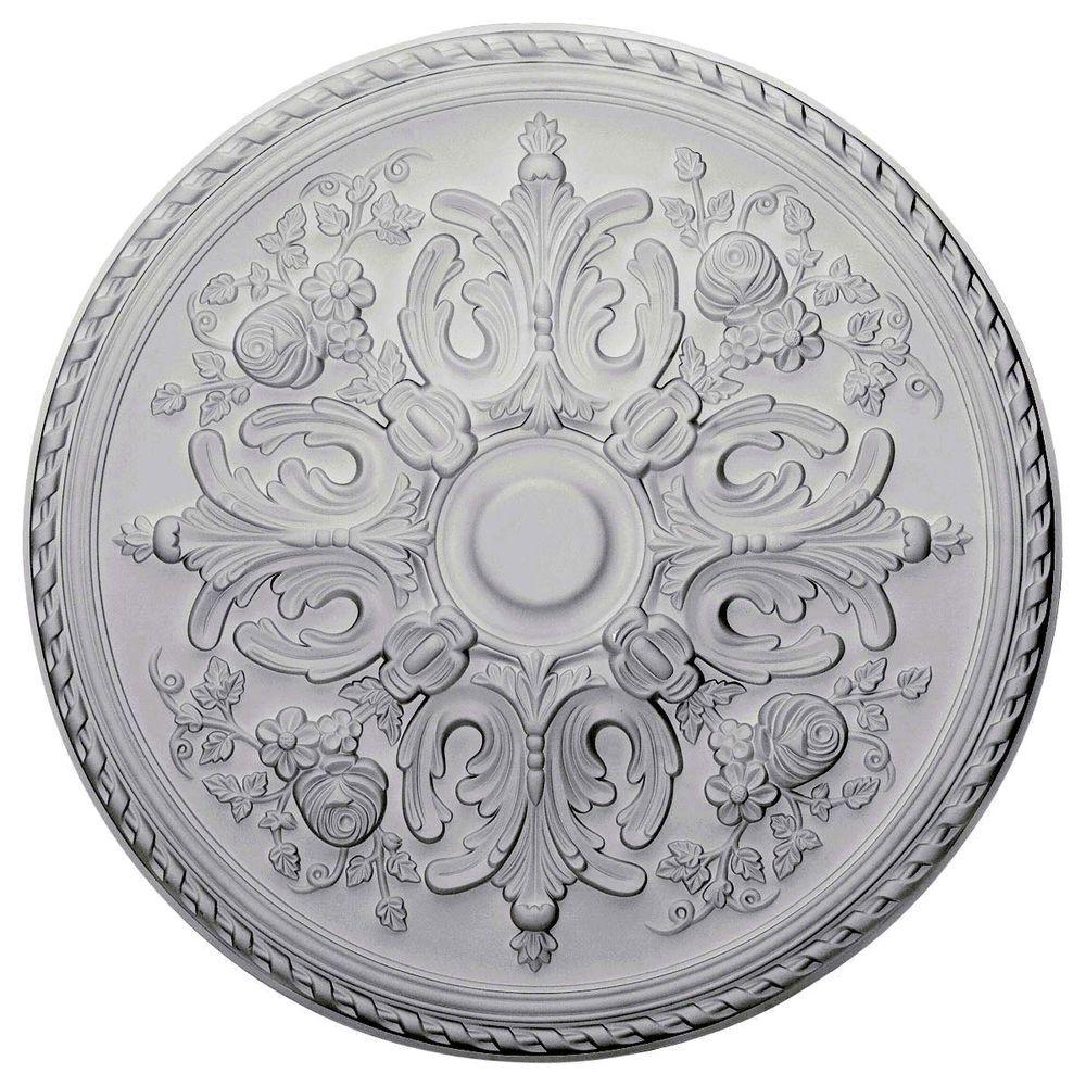 Ekena Millwork 32-5/8 in. O.D. x 2 in. P Bradford Ceiling Medallion