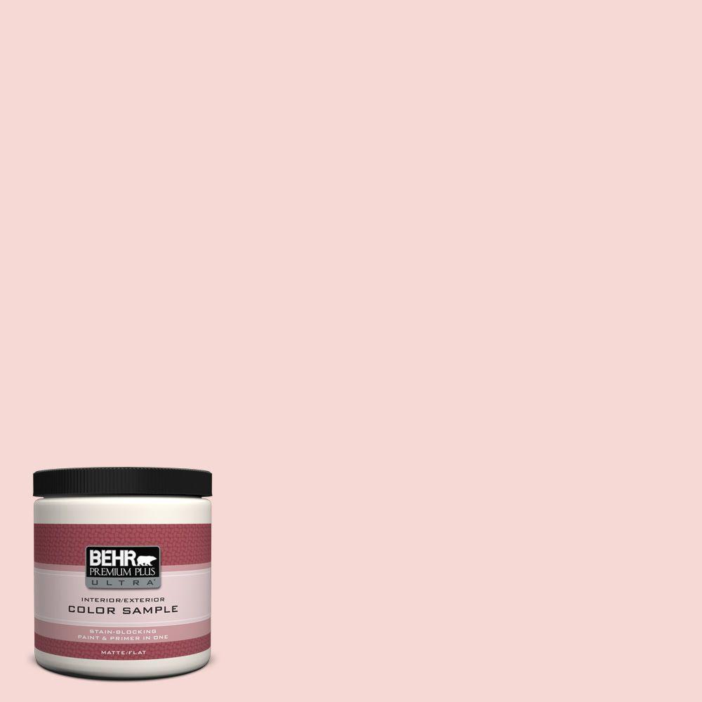 BEHR Premium Plus Ultra 8 oz. #M160-1 Cupcake Pink Interior/Exterior Paint Sample