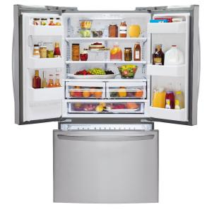 LG Electronics Cu Ft French Door Refrigerator In Stainless - Home depot appliance protection plan