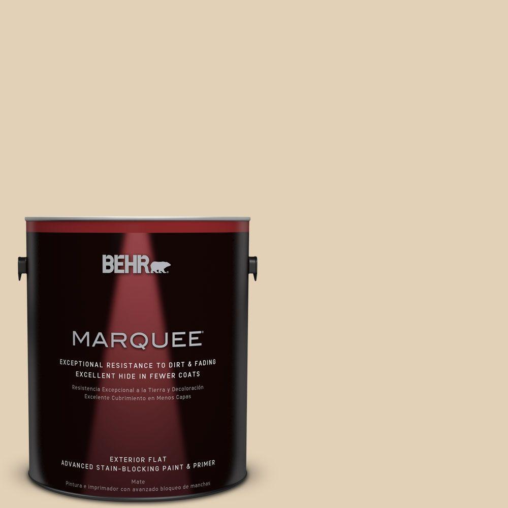BEHR MARQUEE 1-gal. #N290-3 Comfy Beige Flat Exterior Paint