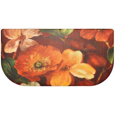 Cook N Comfort Multi Floral 20 in. x 39 in. Slice Kitchen Mat