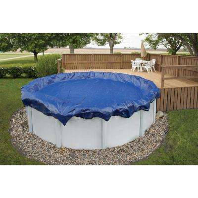 15-Year 30 ft. Round Royal Blue Above Ground Winter Pool Cover