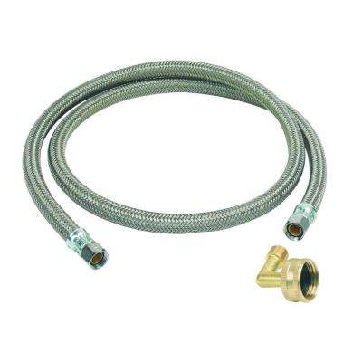 3/8 in. Compression x 3/8 in. Compression x 48 in. Braided Polymer Dishwasher Connector with 3/4 in. Garden Hose Elbow