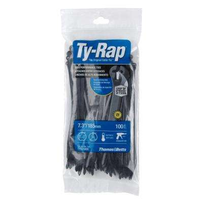 7 in. 50 lb. Cable Tie, Natural (Case of 10 Bags/100 Ties per Bag)