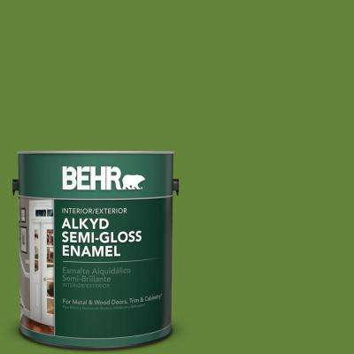 1 gal. #P370-7 Sun Valley Semi-Gloss Enamel Alkyd Interior/Exterior Paint