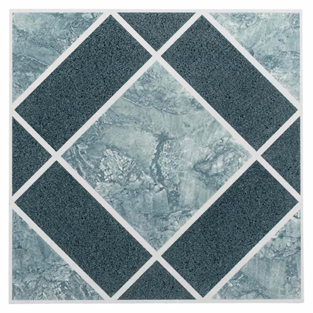 Achim Nexus Blue 12 in. x 12 in. Peel and Stick Diamond Pattern ...