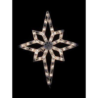 18 in. Lighted Star of Bethlehem Christmas Window Silhouette Decoration