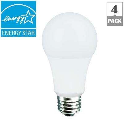40-Watt Equivalent Soft White A19 Dimmable CEC LED Light Bulb (4-Pack)