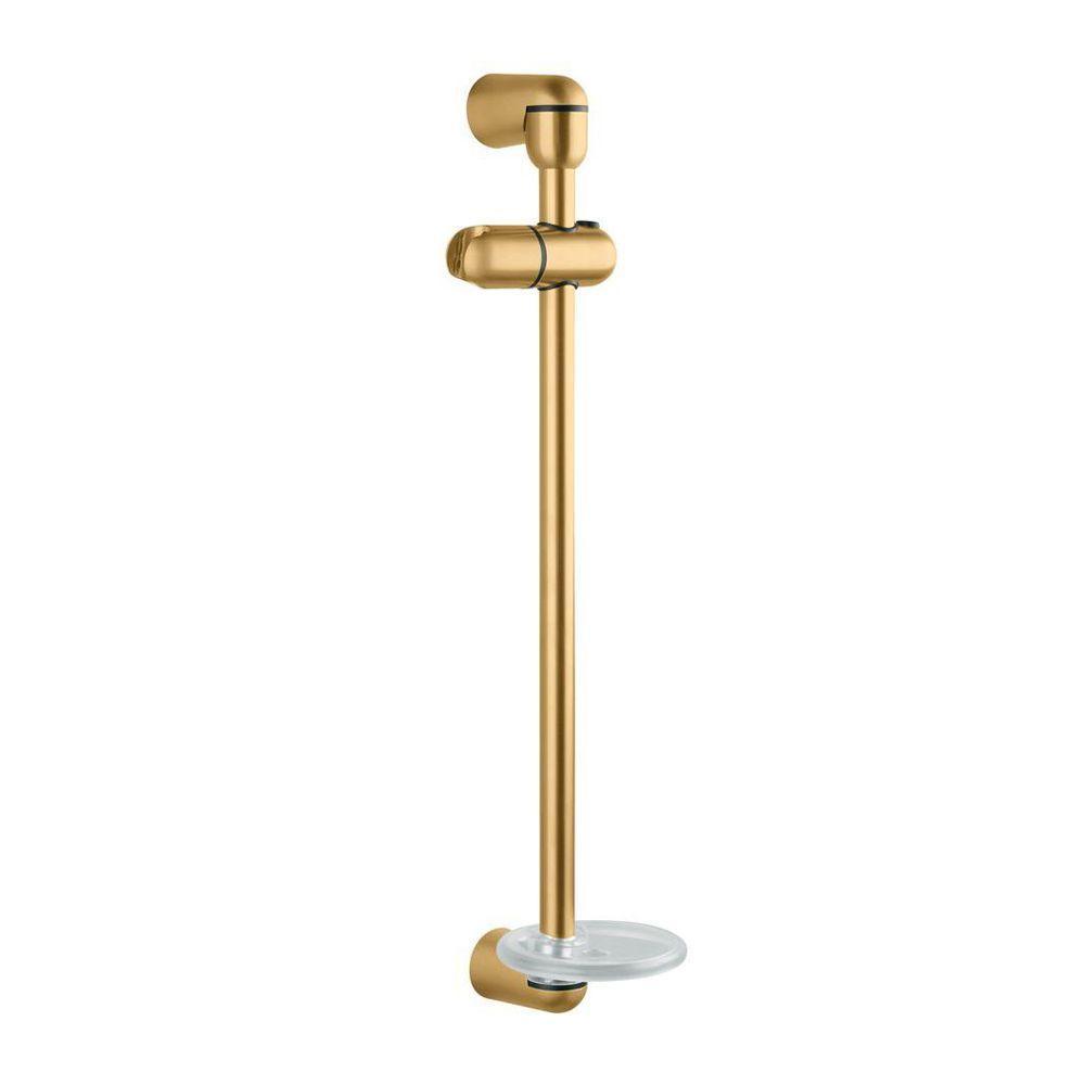 Kohler mastershower 22 3 4 in shower sidebar in vibrant for Vibrant brushed bronze bathroom lighting
