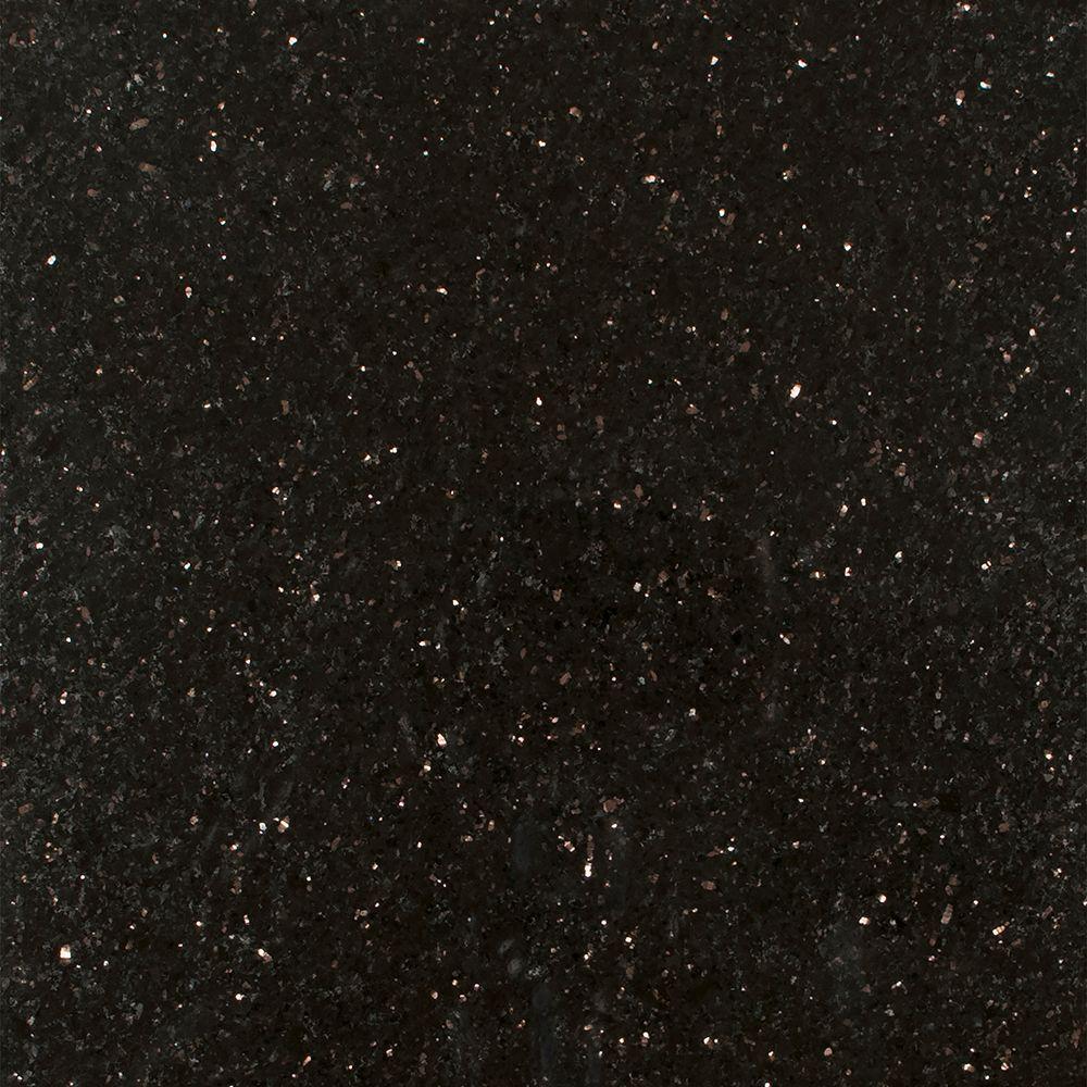 Stonemark 3 in. x 3 in. Granite Countertop Sample in Black Galaxy
