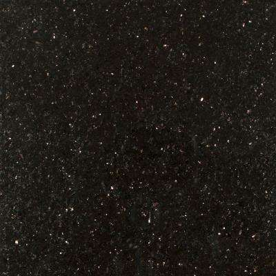 3 in. x 3 in. Granite Countertop Sample in Black Galaxy