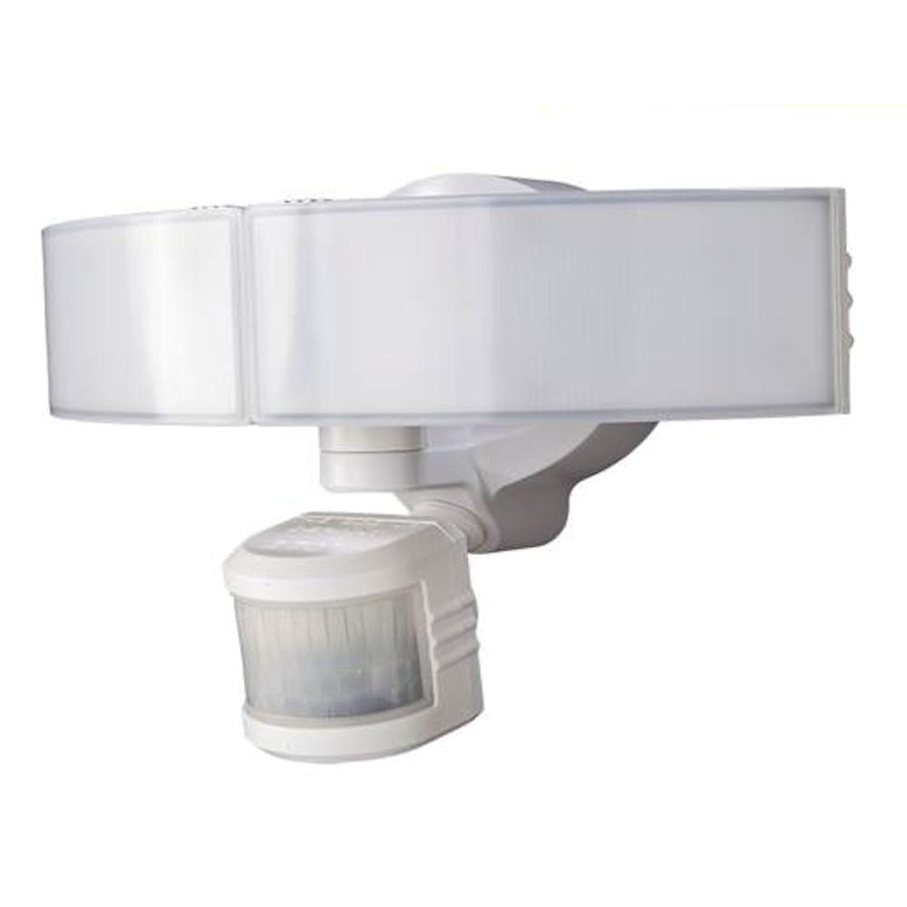 Defiant 270 Degree White LED Bluetooth Motion Outdoor Security ...