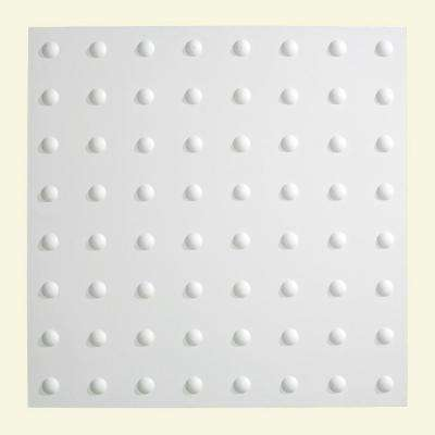 Dome - 2 ft. x 2 ft. Lay-in Ceiling Tile in Gloss White