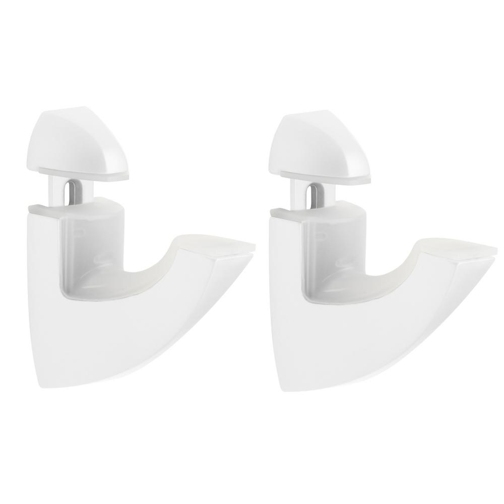 Scoop White Metal Shelf Bracket for 3/16 in. - 1 in.