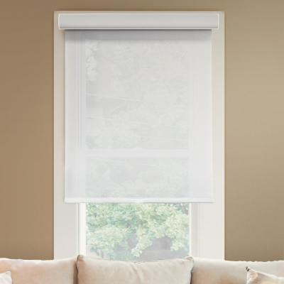 Deluxe Corldess Magnolia Light Filtering Best for Kids Polyester Roller Shade, 55 in. W X 72 in. L