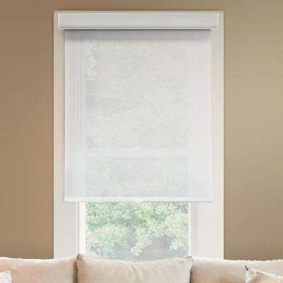 63 in. W x  72 in. L Urban White  Light Filtering Horizontal Roller Shade
