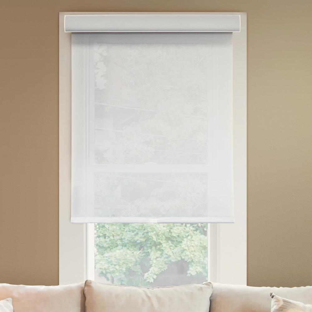 Chicology Deluxe Corldess Magnolia Light Filtering Best for Kids Polyester Roller Shade, 65 in. W X 72 in. L