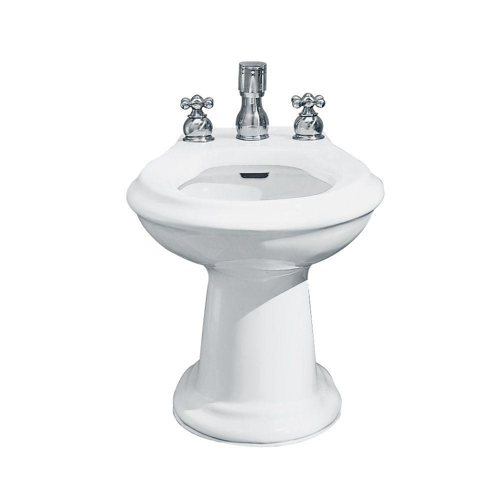 American Standard Reminiscence/Enfield Deck Mount Fitting Bidet in White-DISCONTINUED
