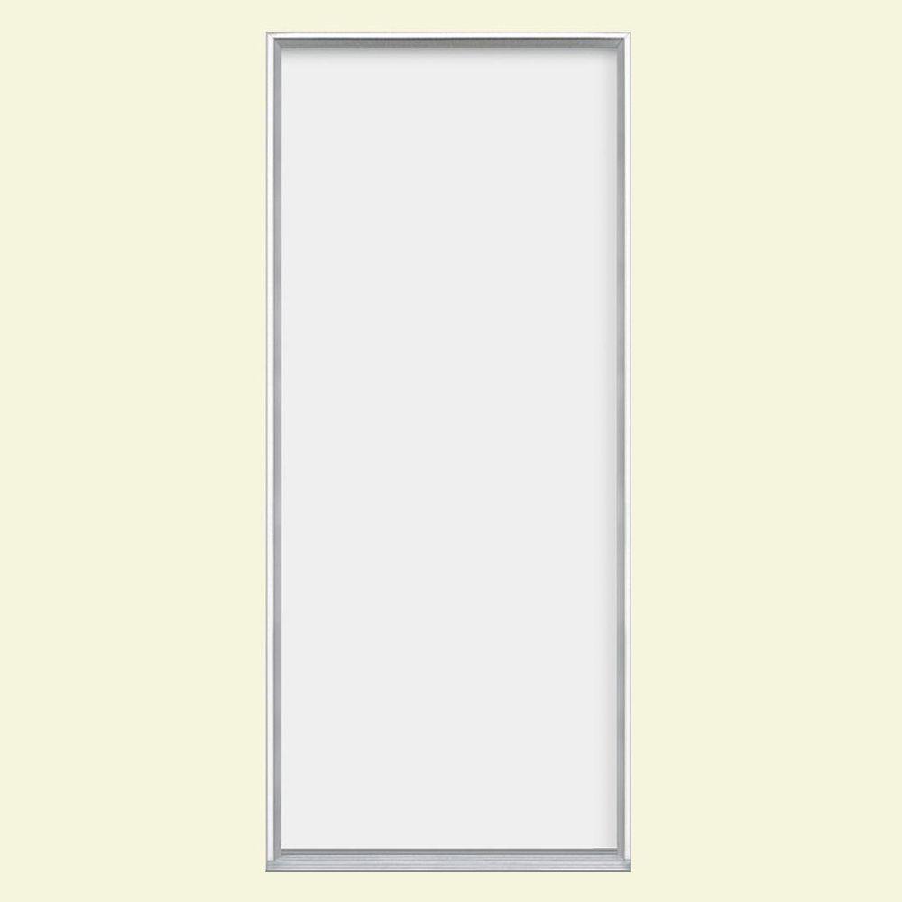 Masonite 30 in. x 80 in. Flush Right-Hand Inswing Primed Steel Prehung Front Door No Brickmold in Vinyl Frame