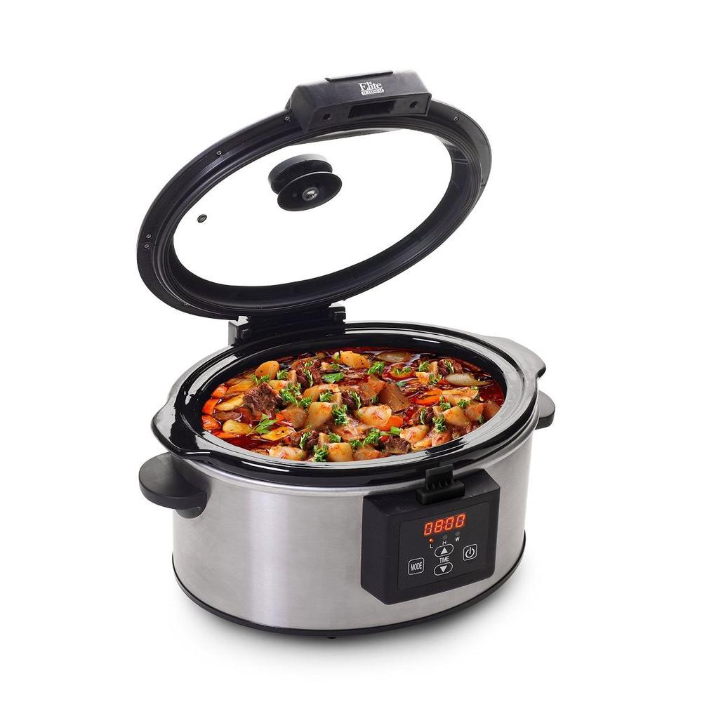 6 Qt. Programmable Slow Cooker, Stainless