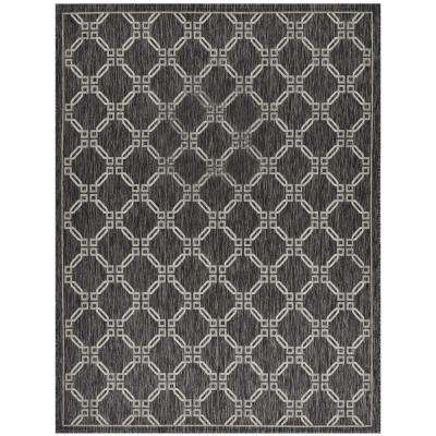 Country Side Charcoal 8 ft. x 11 ft. Indoor/Outdoor Area Rug