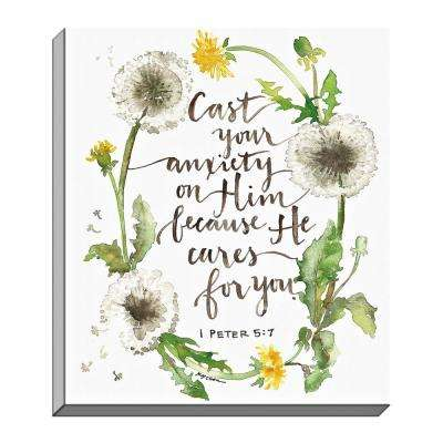 """GraceLaced """"Cast All Your Cares"""" by GraceLaced for Carpentree Printed Canvas Wall Art"""