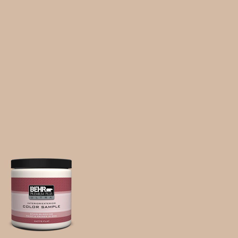 BEHR Premium Plus Ultra 8 oz. #290E-3 Classic Taupe Interior/Exterior Paint Sample