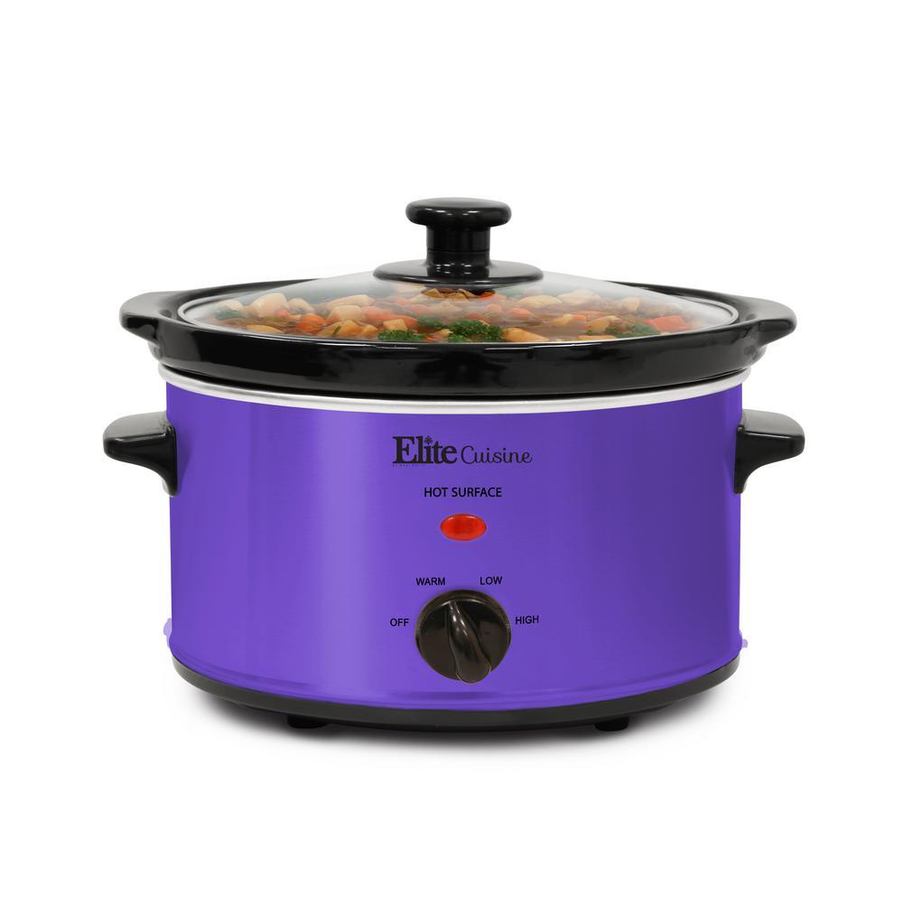 2 Qt. Oval Slow Cooker Purple Color