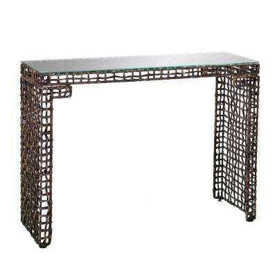 Hana Woven Brown Console Table