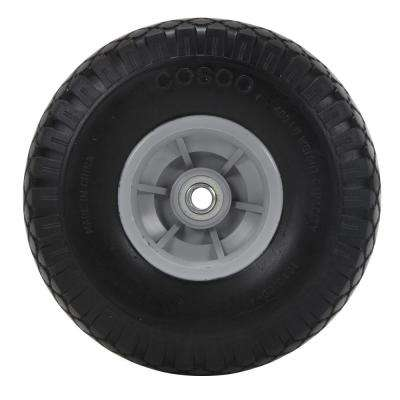 10 in. x 3 in. Flat-Free Replacement Wheels for Hand Trucks (2-Pack)