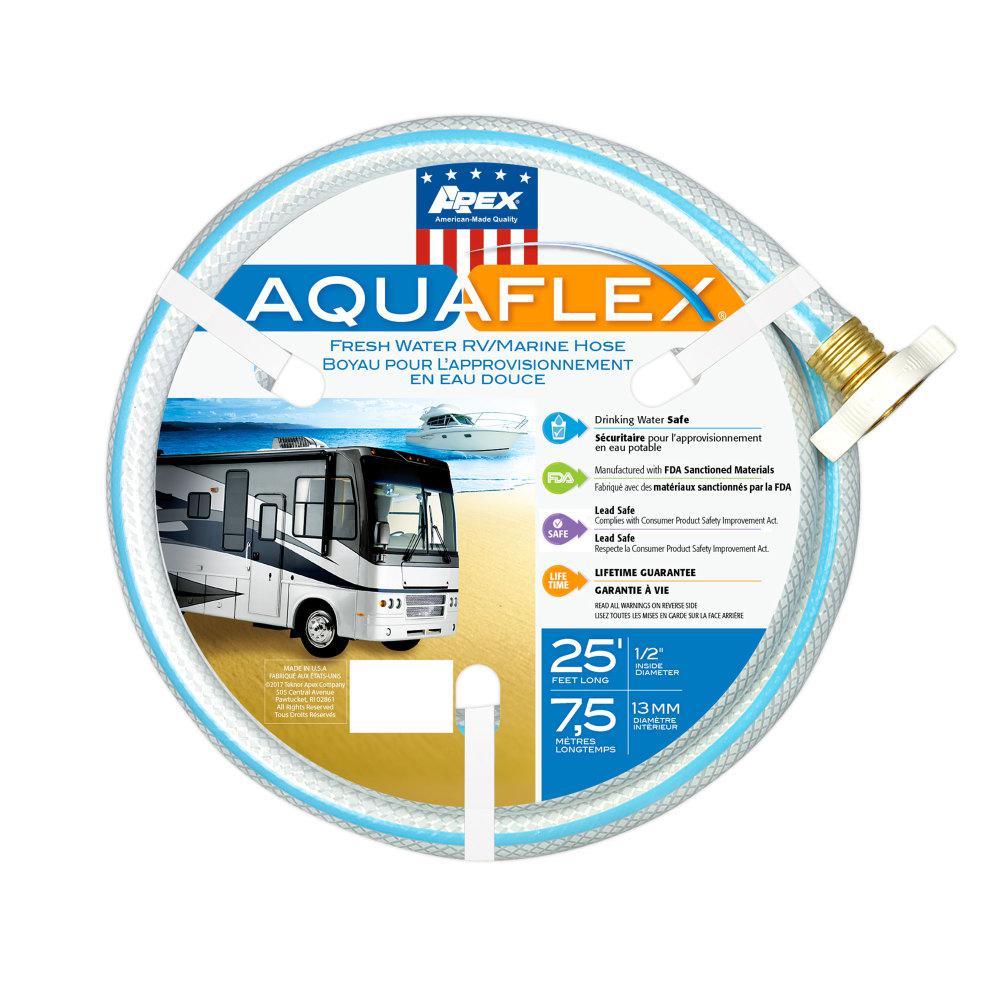 AquaFlex RV/Marine Hose - 1/2 in. x 50 ft., White