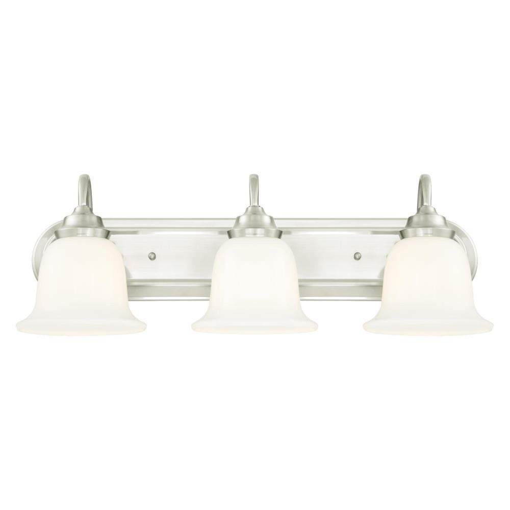Westinghouse Harwell 3-Light Brushed Nickel Wall Mount Bath Light