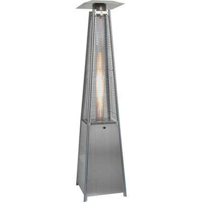 7 Ft. 42,000 BTU Stainless Steel Pyramid Propane Gas Patio Heater. Black;  Stainless Steel