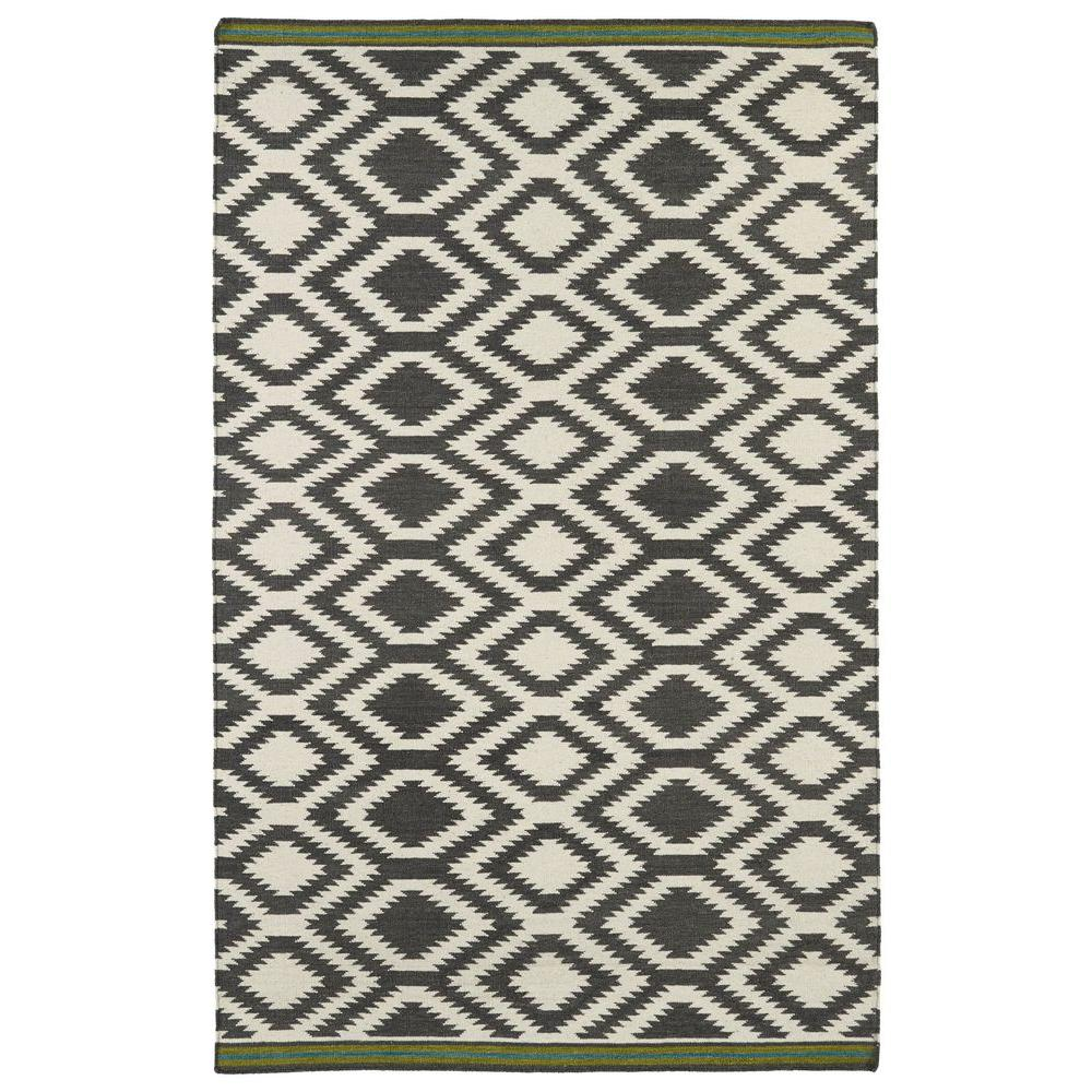 Kaleen Nomad Grey 3 ft. 6 in. x 5 ft. 6 in. Area Rug